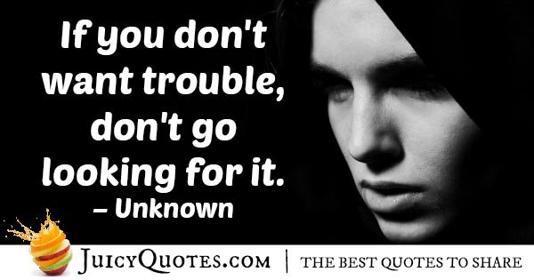 Temptation and Trouble Quote