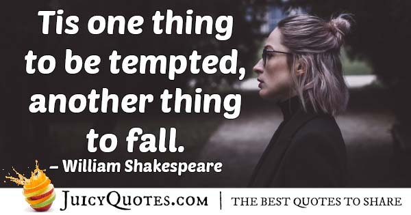 Temptation to Fall Quote