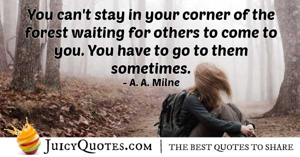 Don't Wait For Others Quote