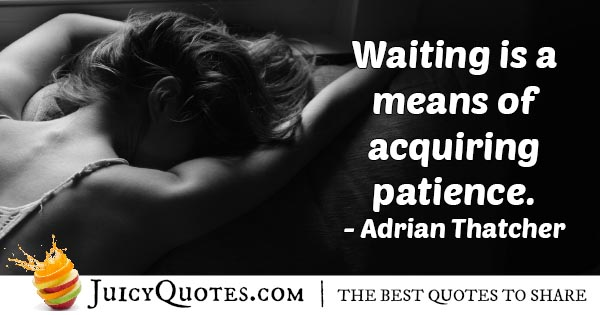 Waiting For Patience Quote