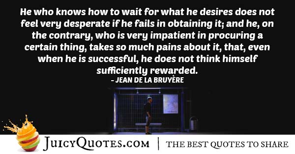 Waiting For Desires Quote