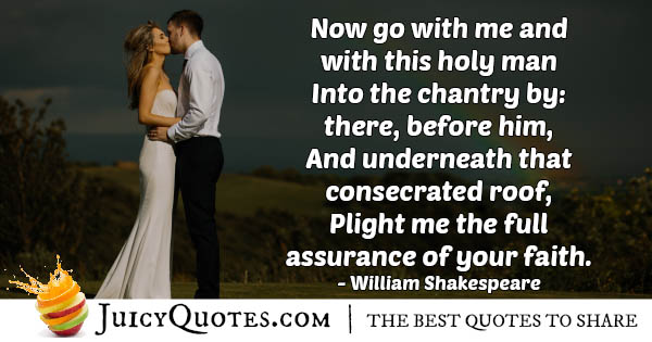 Wedding and Faith Quote