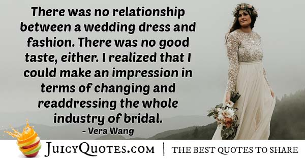 Readdressing Wedding Industry Quote