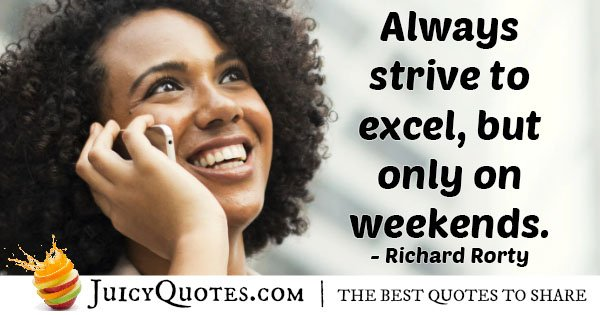 Excel On Weekend Quote