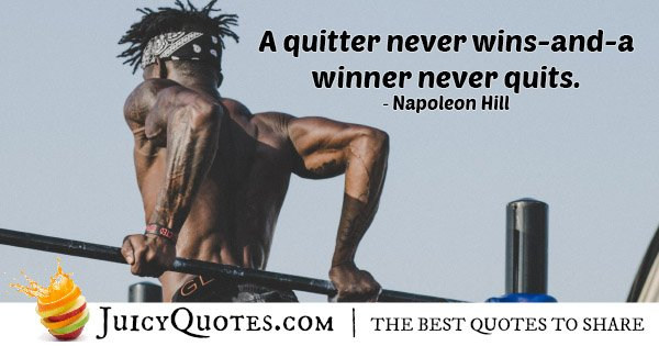 Winner Never Quits Quote