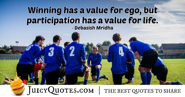 Winning and Ego Quote