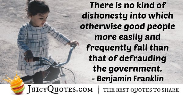 Kind Of Dishonesty Quote
