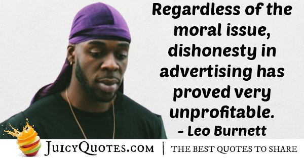 Dishonesty in Advertising Quote