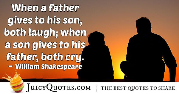 Son Gives Fathers Day Quote
