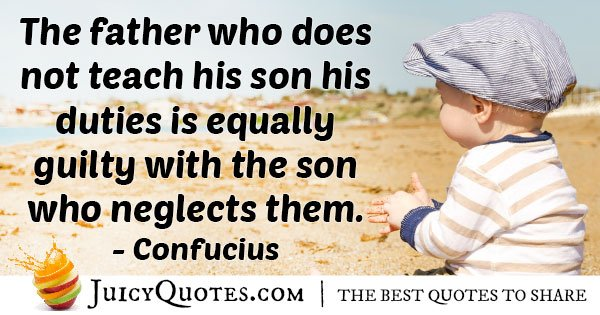 Father Teaches Duties Quote