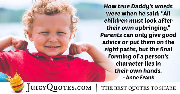 Fathers Advice Quote