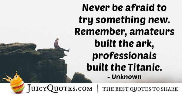 Never Fear Quote