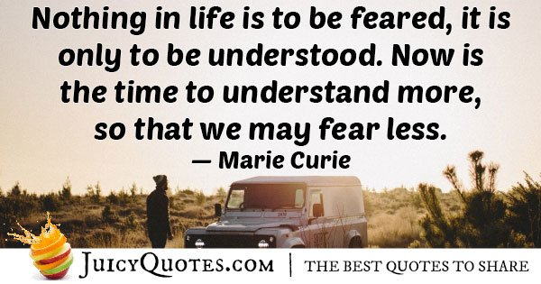 Fear Less Quote