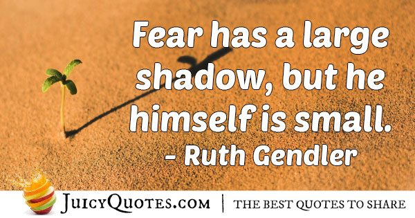 Fear Shadow Quote