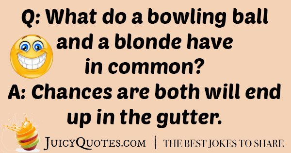 Blonde Bowling Joke