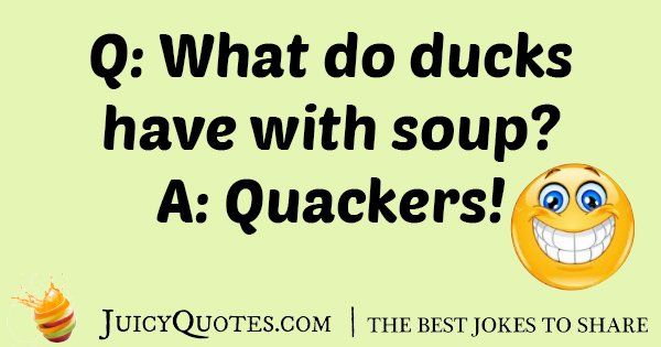 Duck Eating Soup Joke