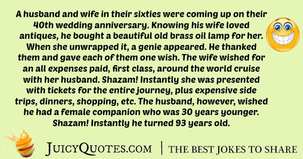 Husband and Wife Genie Joke
