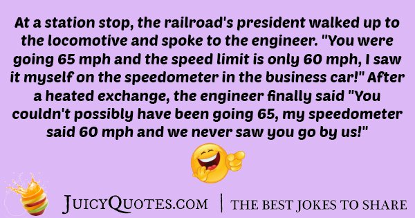 Train Speed Joke