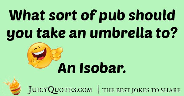 Bar Umbrella Joke