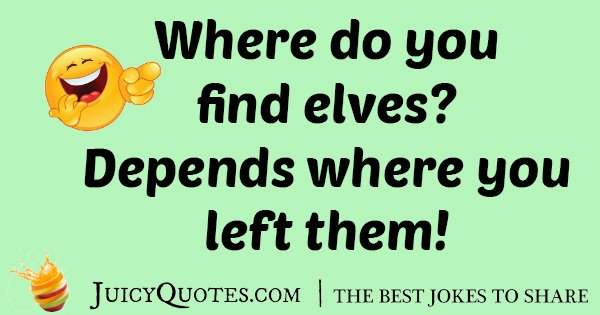 Find Elves Joke