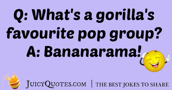 Gorilla Favorite Pop Group Joke