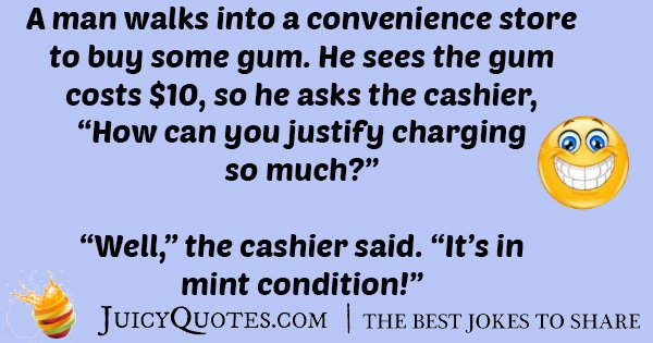 Buying Gum Joke