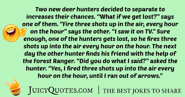 Hunting And Getting Lost Joke
