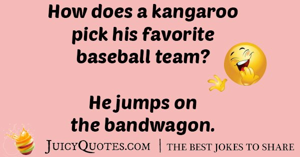 Kangaroos Baseball Team Joke