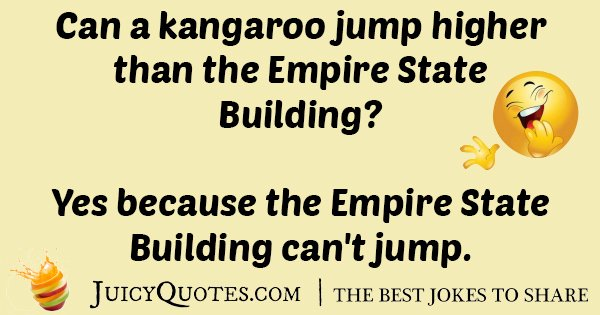 Kangaroo And The Empire State Building Joke