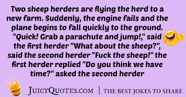 Two Sheep Herders Joke