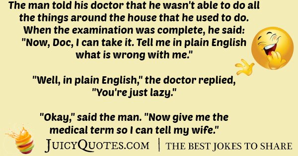 Lazy Doctor Joke